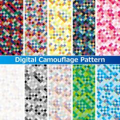 デジタルカモフラージュスウォッチパターン