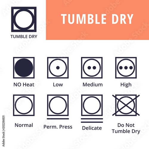 Tumble Dry Textile Care Symbols Stock Image And Royalty Free