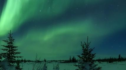 Wall Mural - Solar Storm Aurora Borealis Time-Lapse