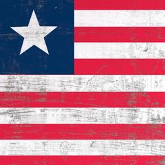 Scratched Liberia flag