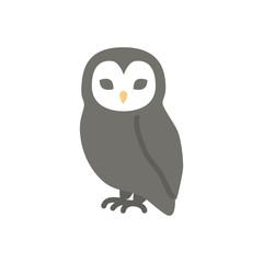 Owl halloween flat icon vector