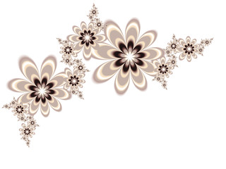 Garlands of flowers on a light background