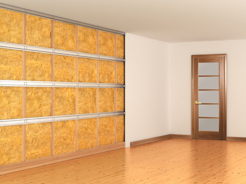 soundproofing of walls. 3d illustration