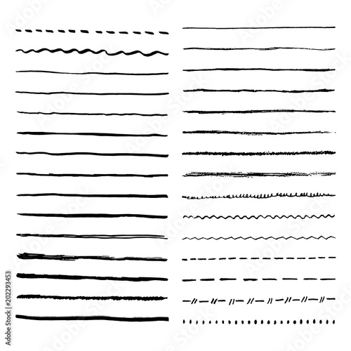 pen brush and pencil vector strokes template for brush wave