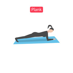 Plank flat fit icons