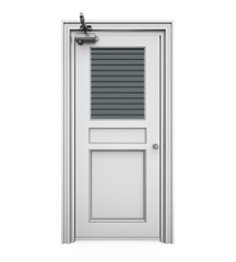 Closed Steel Door Isolated