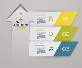 3 steps of arrow Infografics template. for your presentation. EPS 10.