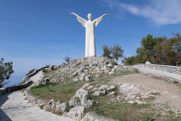 Maratea, Jesus, Statue, Italien, Süden, Süditalien, Küste, Meer, Wasser, Strand
