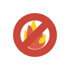 Fire sign firefight icon vector flat