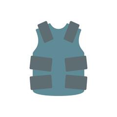 Bulletproof vest police icon vector flat