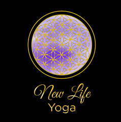 illustration - logo on the theme of meditation and yoga.