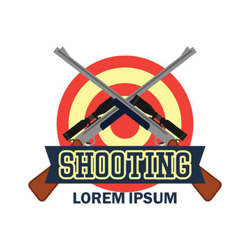 shooting logo with text space for your slogan / tag line, vector illustration