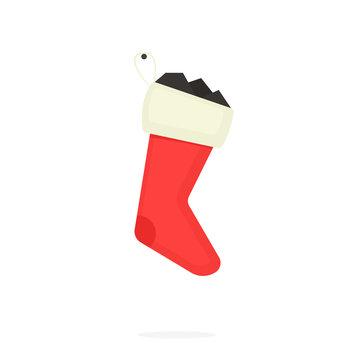 Lump of coal in stocking