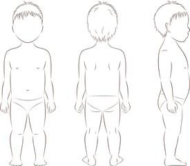 Child body silhouette