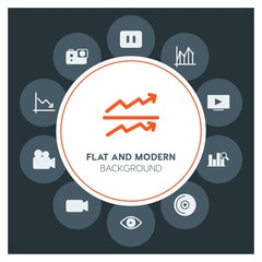 charts, video, photos, time Infographic Circle fill Icons Set. Contains such Icons as  business,  website,  elements,  background,  pattern,  banner,  slider and more. Fully Editable. Pixel Perfect