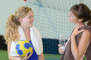 Women on handball court