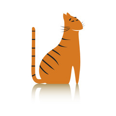 Image of a tiger. Just a tiger. Vector