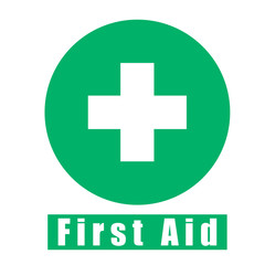 first aid vector icon green