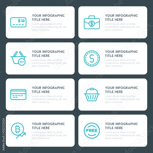 Flat money, shopping infographic timeline template for presentations ...