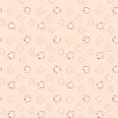 Illustrated abstract seamless floral background
