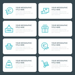 Flat money, shopping infographic timeline template for presentations, advertising, annual reports