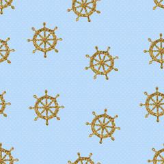 seamless pattern gold wheels