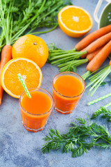 carrot and orange fresh juice
