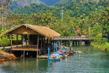 Fishing village on the island in Southeast Asia, Koh Chang, Thailand