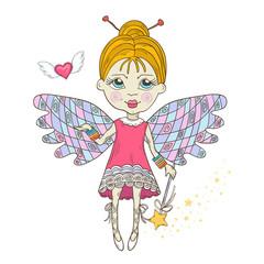 Cute Fairy with magic wand