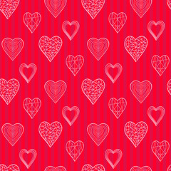 Vector pattern winth doodle hearts