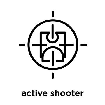 active shooter icon isolated on white background