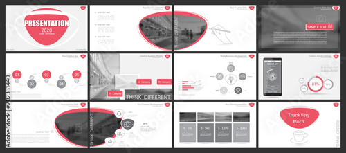 red gray elements for infographics white background the best