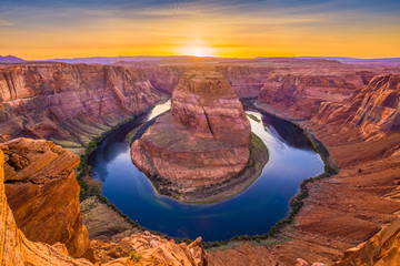 Horseshoe Bend on the Colorado River Wall mural