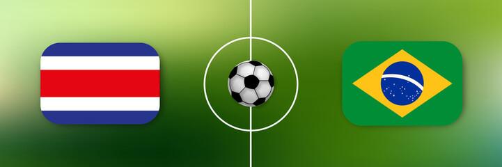Fußball - Costa Rica gegen Brasilien