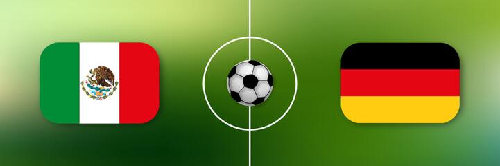 Fußball - Mexiko gegen Deutschland