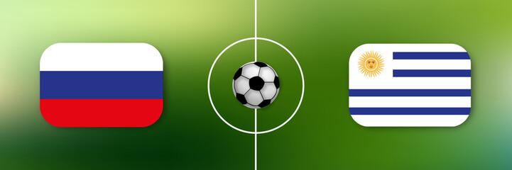 Fußball - Russland gegen Uruguay