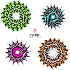 Vector fractal set
