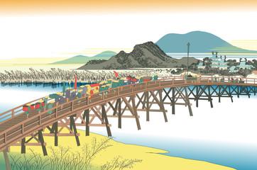 東海道五十三次 イラスト