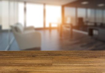 Empty wooden table. Flooring. Background with wooden table.