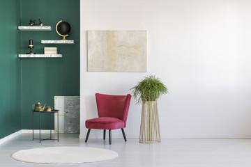 Creative minimalist artist home interior
