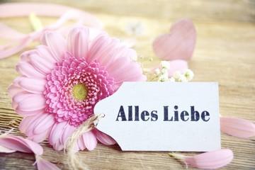 Gerbera - Alles Liebe zum Muttertag - Geburtstag - Blumengrüße