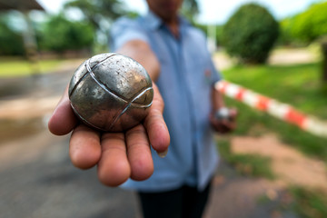 petanque ball fun and relaxing game
