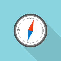 Compass icon. Flat illustration of compass vector icon for web