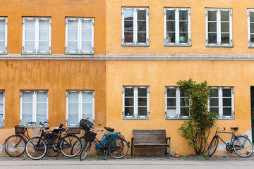 Street Scene with Bicycles