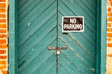 No Parking Warehouse Door