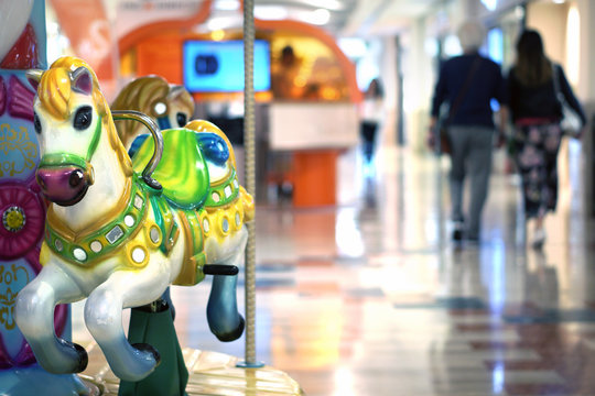 carousel in the supermarket