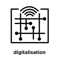 digitalisation icon isolated on white background