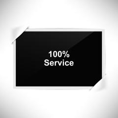 Foto Rahmen Querformat - 100 Prozent Service