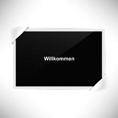 Foto Rahmen Querformat - Willkommen