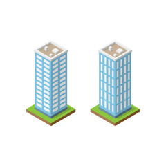 Two isometric towers